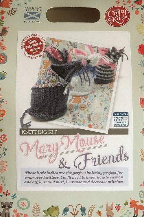 The Crafty Kit Company - Knitting Kit Mary Mouse & Friends