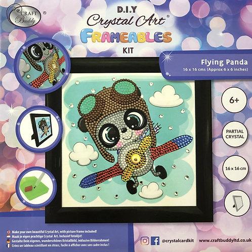 Craft Buddy Flying Panda Crystal Art Frameable