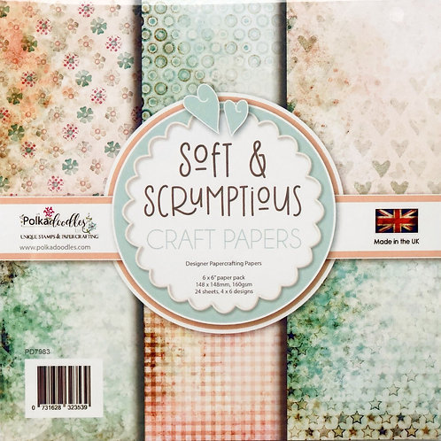 Polkadoodles Craft Papers, Soft & Scrumptious