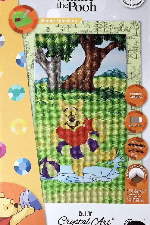 Disney Winnie Splashing Triptych Crystal Art Picture Frame Kit 40x22cm