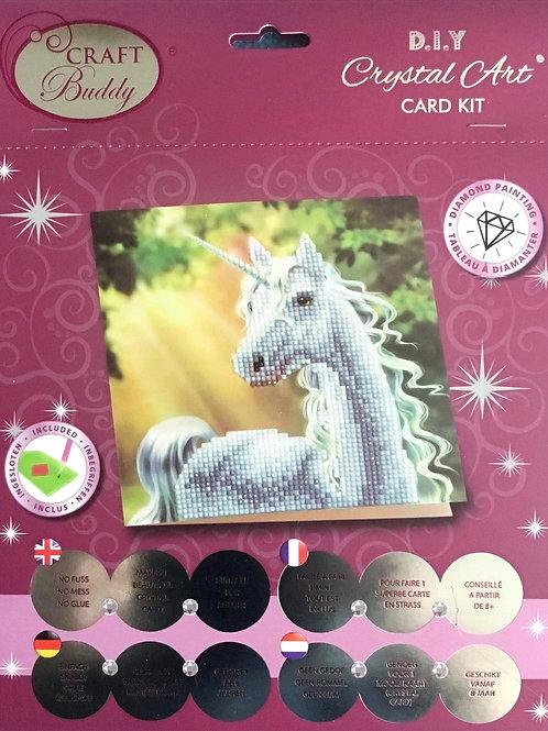 Sunshine Unicorn Crystal Art Card