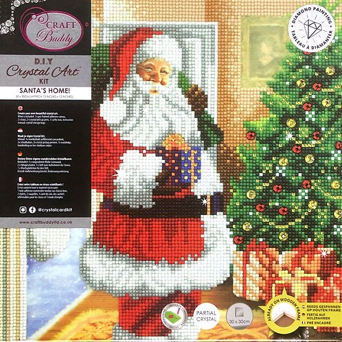 Craft Buddy Santa's Home! Crystal Art Picture Frame Kit