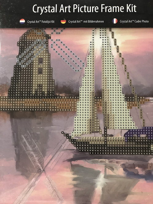 Craft Buddy Boat Windmill Crystal Art Picture Frame Kit