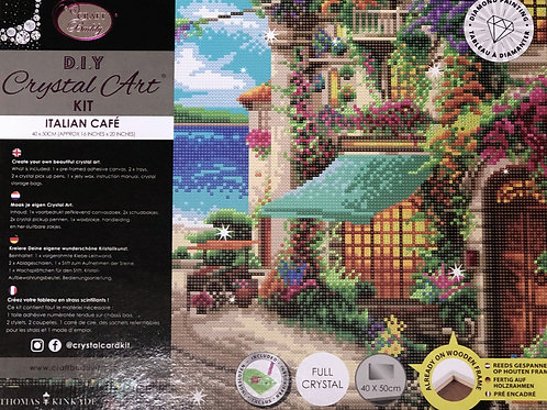 Craft Buddy Italian Cafe by Thomas Kinkade Studios Crystal Art Picture Frame Kit