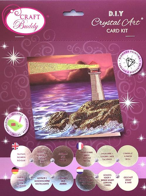 Lighthouse Crystal Art Card