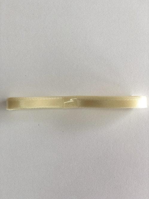 7mm x 3m Cream Satin Ribbon
