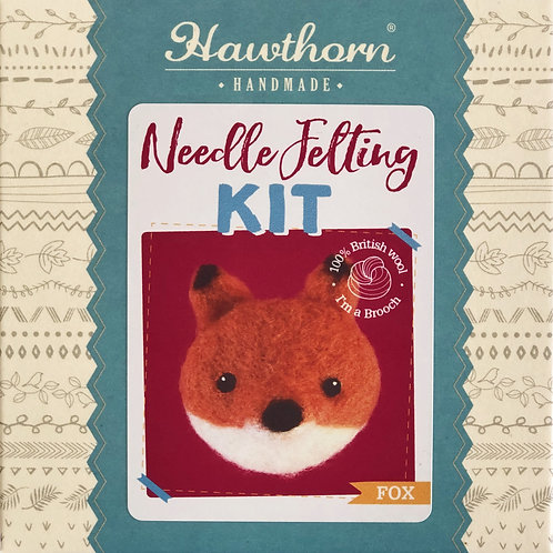 Hawthorn Handmade - Fox Brooch Needle Felting Kit
