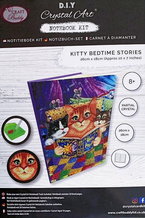 Craft Buddy Kitty Bedtime Stories Crystal Art Notebook