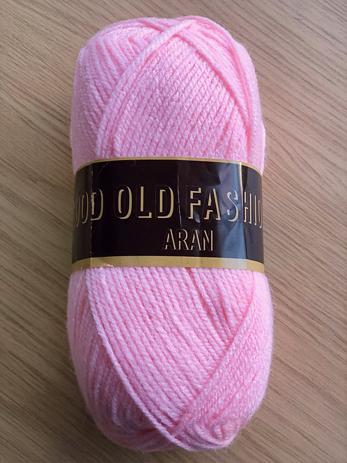Good Old Fashioned Aran, Baby Pink