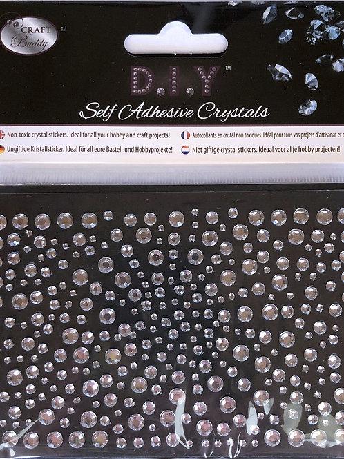 Crystal Art Clear Self Adhesive Crystals