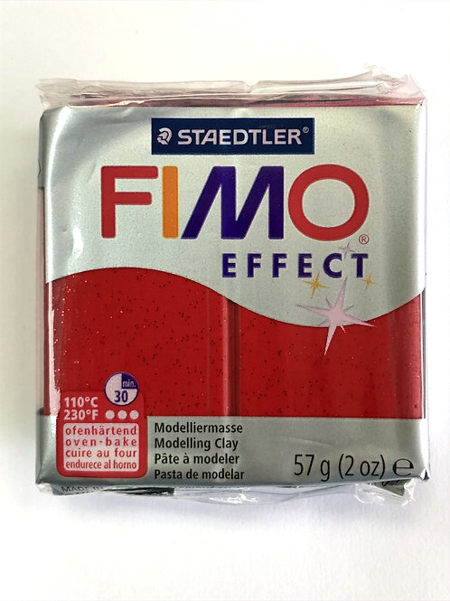 Fimo Effect Modelling Clay - 8020-202 Glitter Red, 57g
