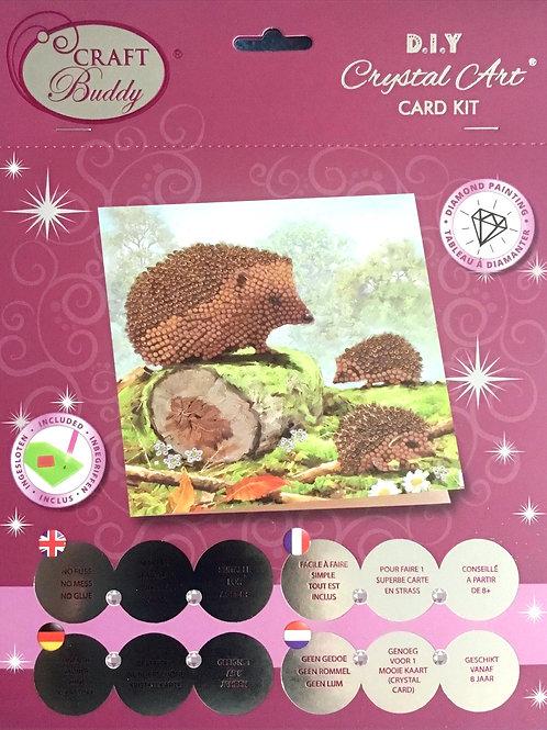 Craft Buddy Happy Hedgehog Crystal Art Card