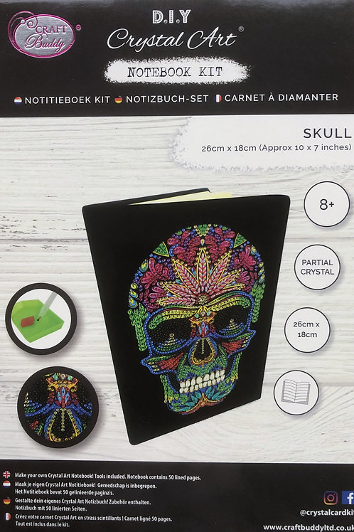 Craft Buddy Skull Crystal Art Notebook