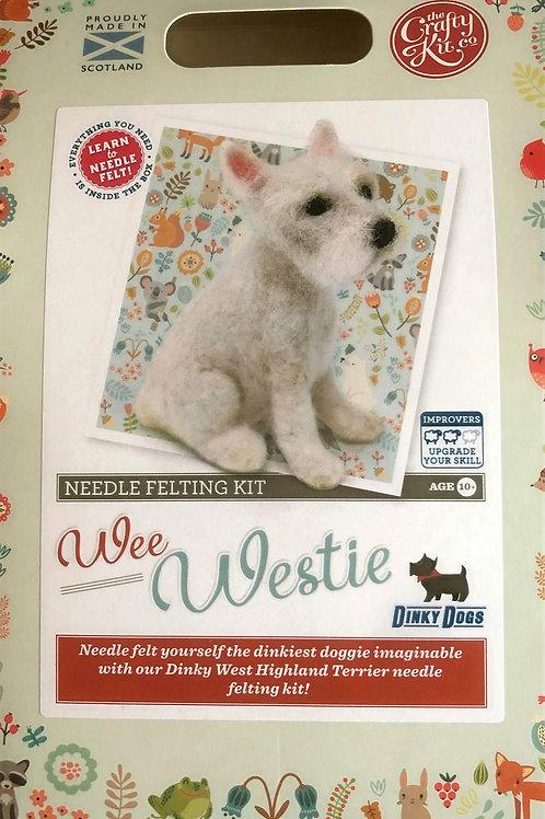 The Crafty Kit Company - Wee Westie Needle Felting Kit