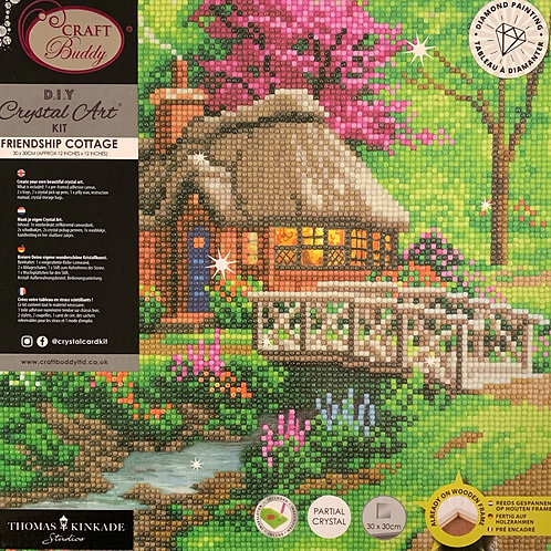 Craft Buddy Friendship Cottage Crystal by Thomas Kinkade Art Picture Frame Kit