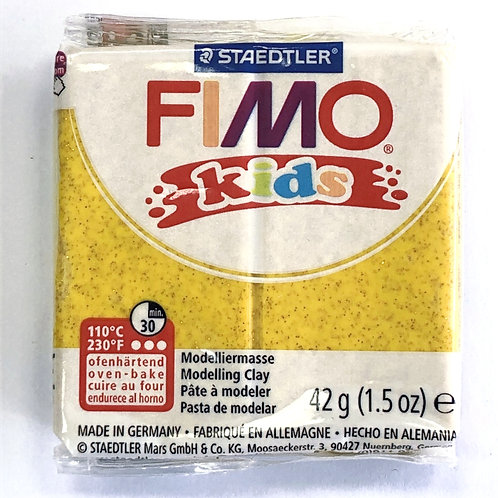 Fimo Kids Modelling Clay - 8030-112 Gold Glitter, 42g