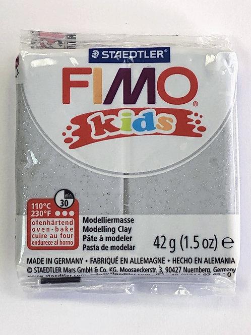 Fimo Kids Modelling Clay - 8030-812 Silver Glitter, 42g