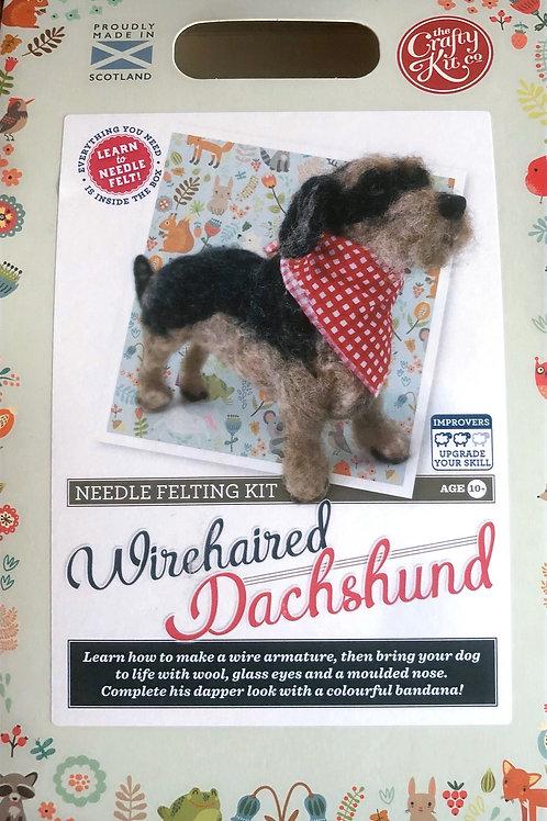 The Crafty Kit Company - Wirehaired Dachshund Needle Felting Kit