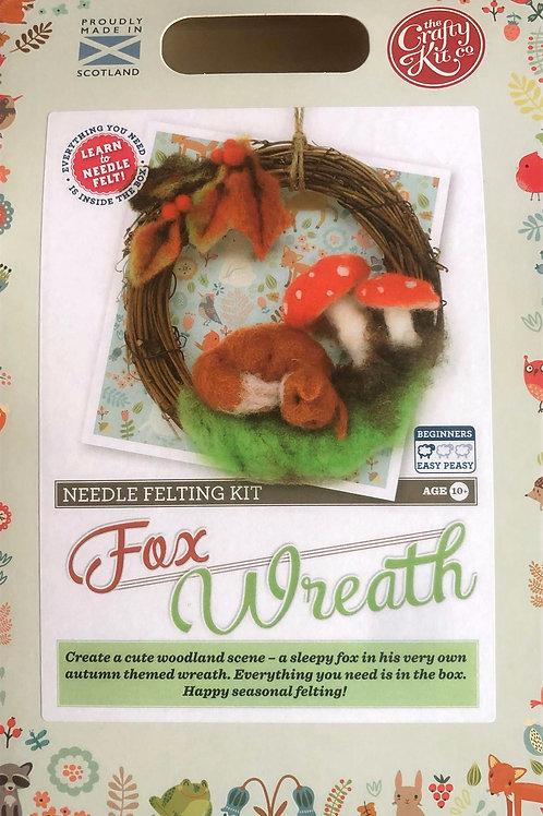 The Crafty Kit Company - Fox Wreath Needle Felting Kit