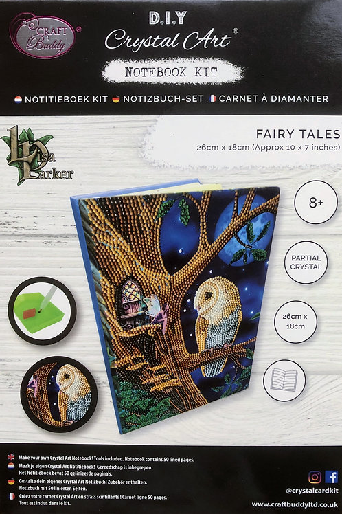 Craft Buddy Owl and Fairy Tree Crystal Art Notebook