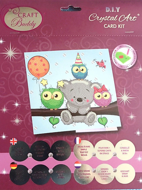 Birthday Friends Crystal Art Card