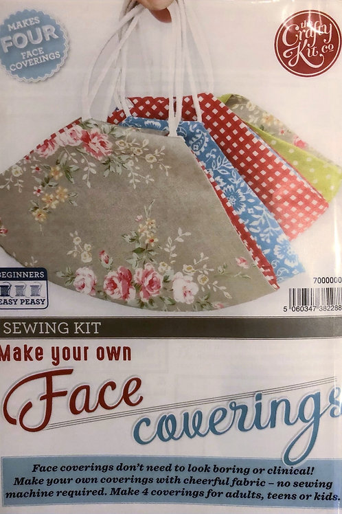 The Crafty Kit Company - Make Your Own Face Coverings Sewing Kit