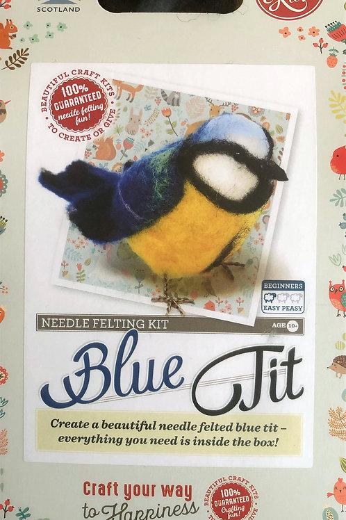 The Crafty Kit Company - Blue Tit Needle Felting Kit