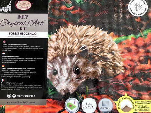 Forest Hedgehog Crystal Art Picture Frame Kit 50x40cm