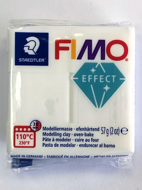 Fimo Effect Modelling Clay - 8020-014 Translucent, 57g