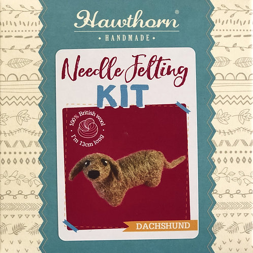 Hawthorn Handmade - Dachshund Needle Felting Kit