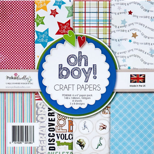 Polkadoodles Craft Papers, Oh Boy!