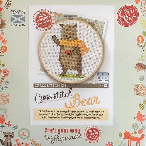 The Crafty Kit Company - Bear Cross Stitch Kit