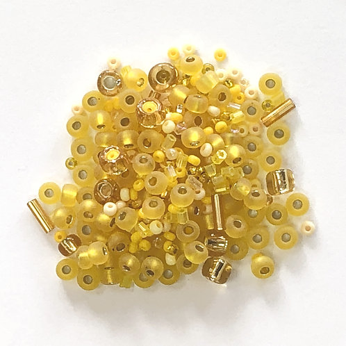 Shades of Yellow Assorted Glass Beads