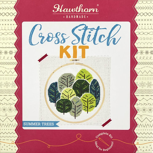 Hawthorn Handmade - Summer Trees Cross Stitch Kit