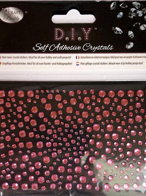 Crystal Art Hot Pink Self Adhesive Crystals
