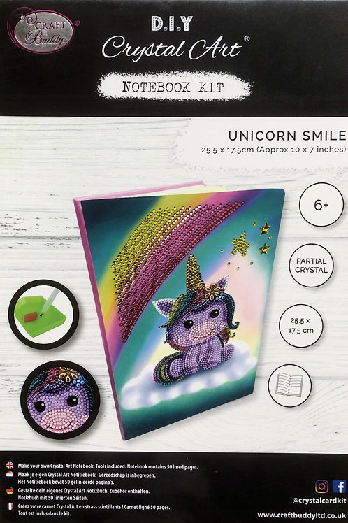 Craft Buddy Unicorn Smile Crystal Art Notebook
