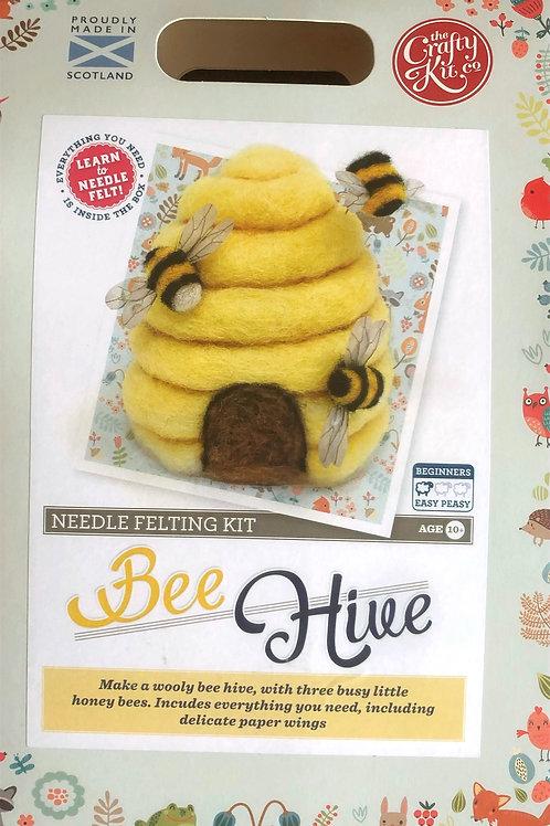 The Crafty Kit Company - Bee Hive Needle Felting Kit