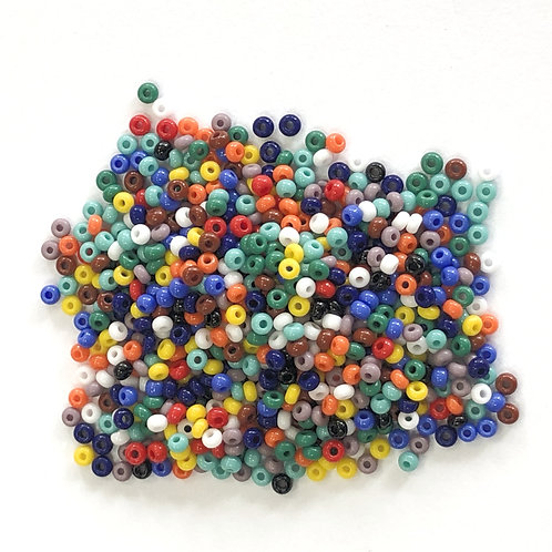 T02-55 Assorted Opaque Seed Beads