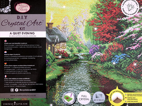 A Quiet Evening Crystal Art Picture Frame Kit 50x40cm