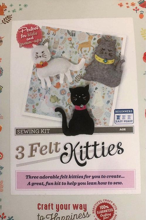 The Crafty Kit Company - 3 Felt Kitties Sewing Kit