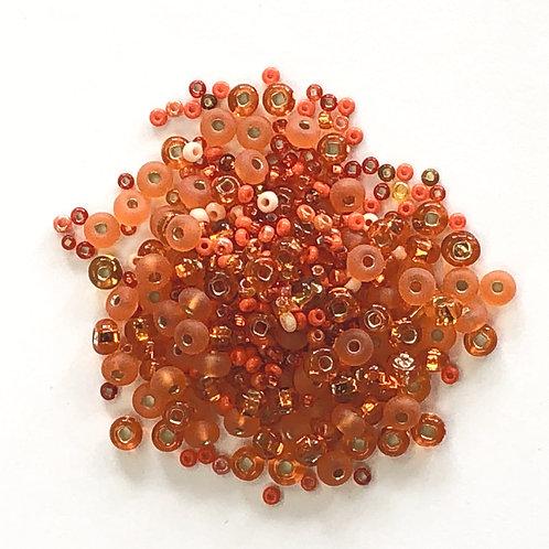 Shades of Orange Assorted Glass Beads