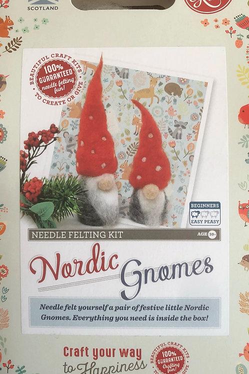 The Crafty Kit Company - Nordic Gnomes Needle Felting Kit