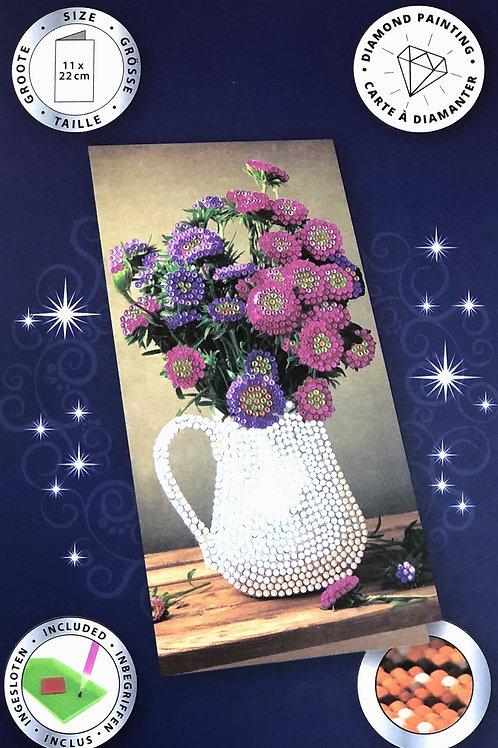 Flower Vase Crystal Art Card