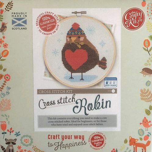 The Crafty Kit Company - Robin Cross Stitch Kit