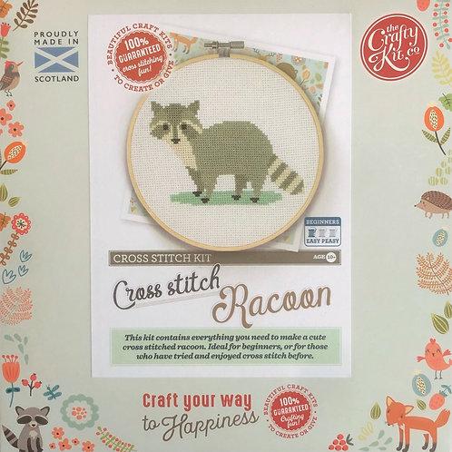 The Crafty Kit Company - Racoon Cross Stitch Kit
