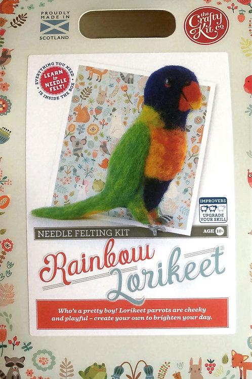 The Crafty Kit Company - Rainbow Lorikeet Needle Felting Kit