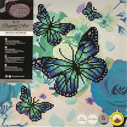 Craft Buddy Orchids & Butterflies Crystal Art Picture Frame Kit