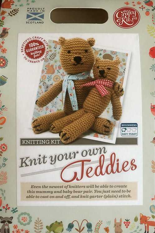 The Crafty Kit Company - Knit Your Own Teddies