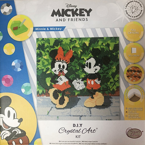 Disney Mickey & Minnie Crystal Art Picture Frame Kit 30x30cm