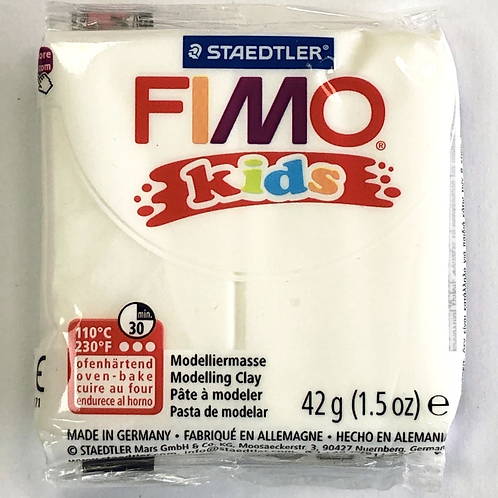 Fimo Kids Modelling Clay - 8030-0 White, 42g
